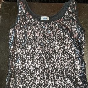 Old Navy tank top with sparkles and sequins
